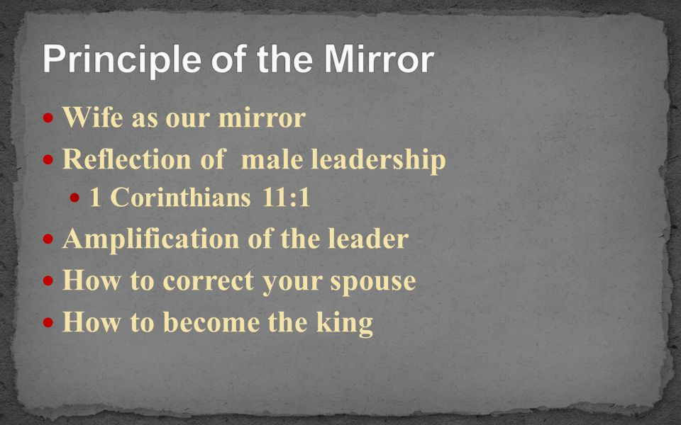 Principle of the Mirror