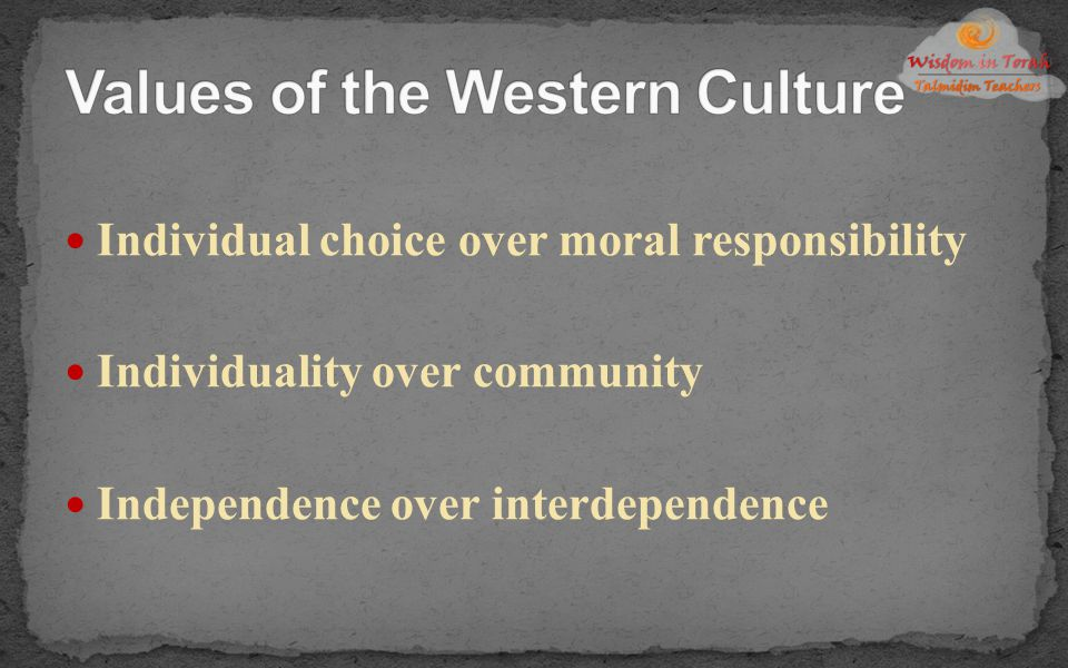 Values of the Western Culture