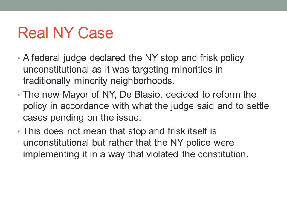 Real NY Case