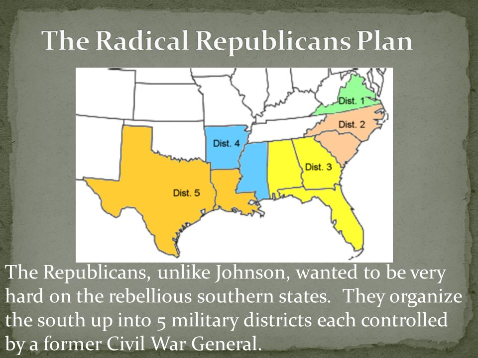 The Radical Republicans Plan