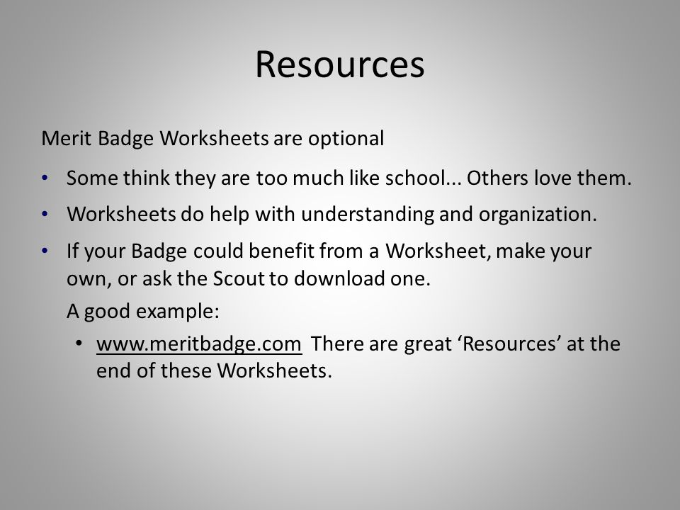 Merit Badge Counselor Training ppt download – Cycling Merit Badge Worksheet
