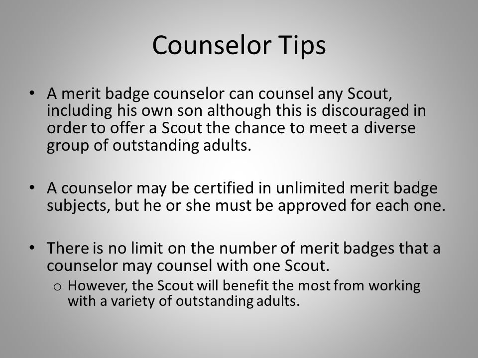Counselor Tips