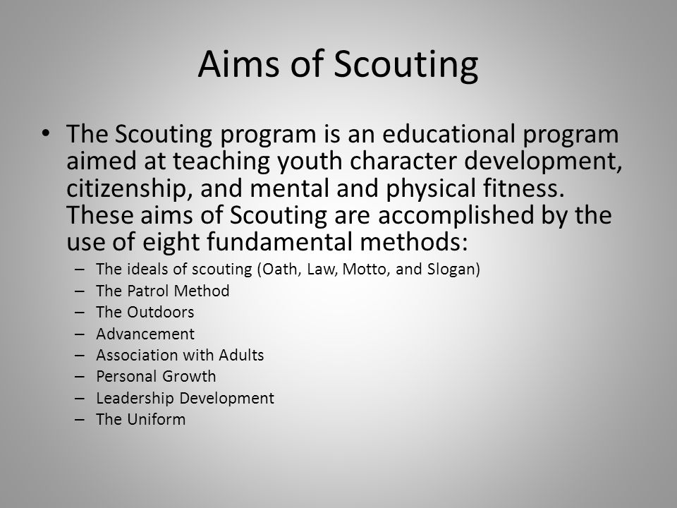 Aims of Scouting