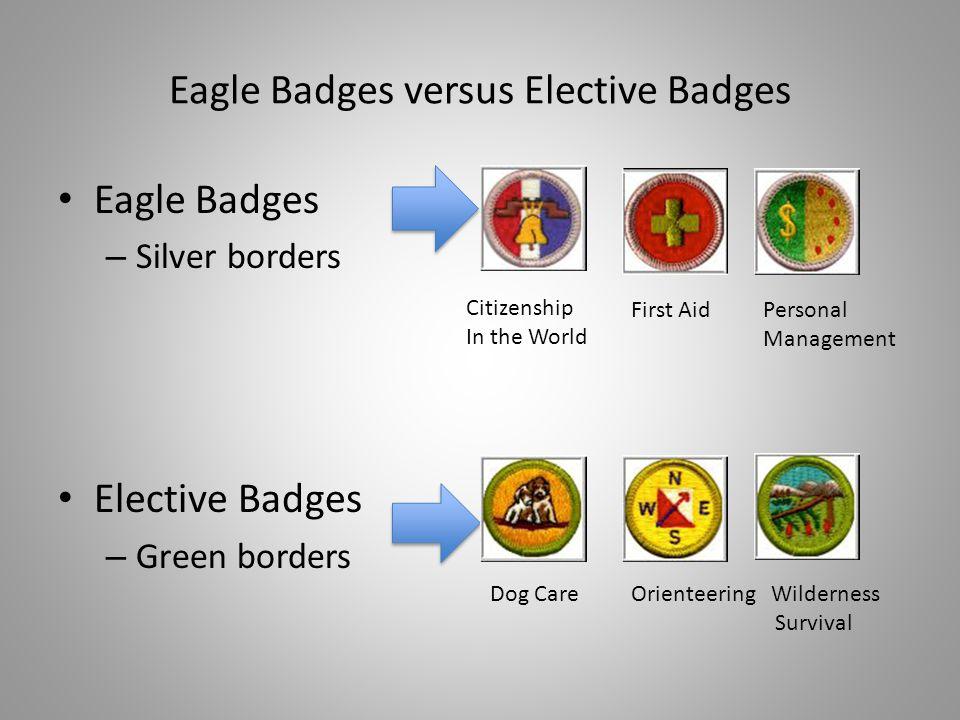 Eagle Badges versus Elective Badges