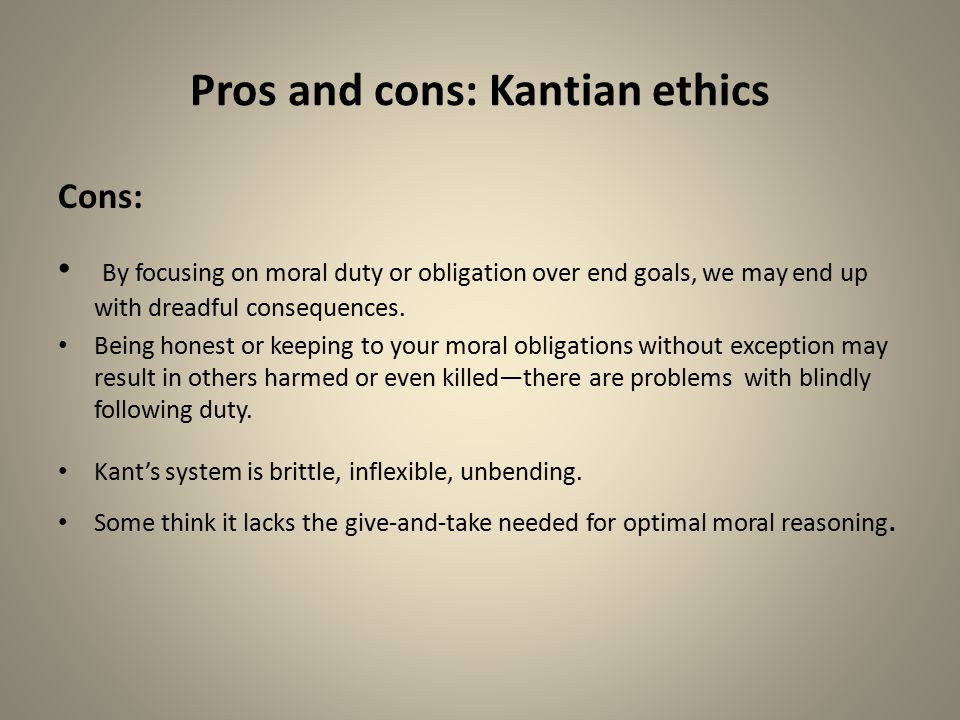 code of ethics pros and cons Professionalism and ethics  been spelled out in the code of ethics of the international association of the chiefs of police in the study of ethics,.