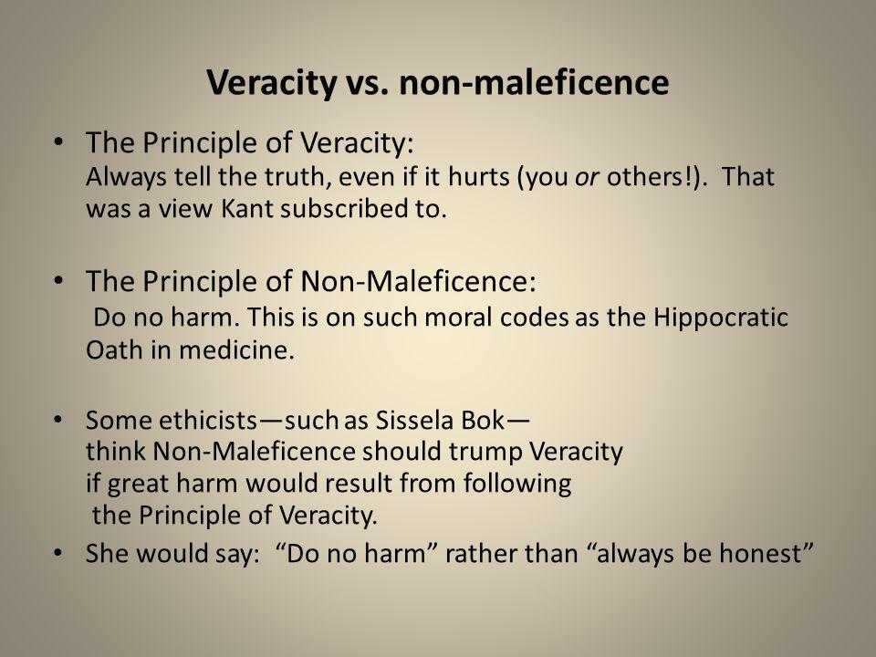 Veracity vs. non-maleficence