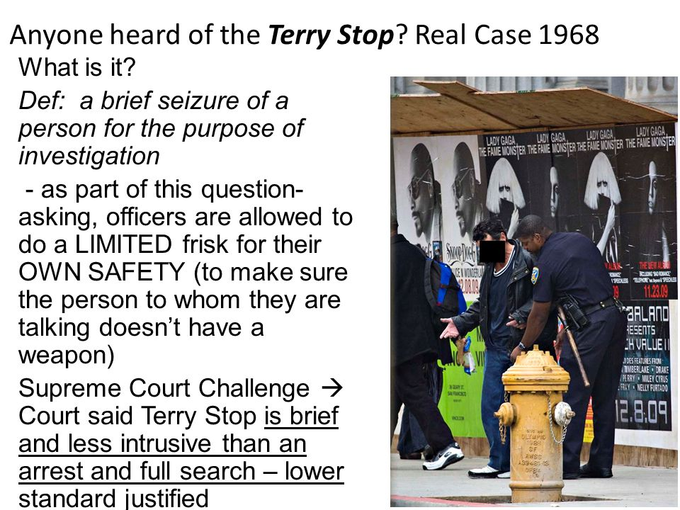 Anyone heard of the Terry Stop Real Case 1968