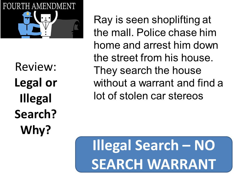 Review: Legal or Illegal Search Why