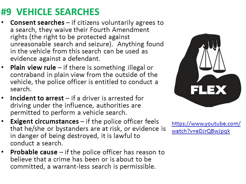 #9 VEHICLE SEARCHES