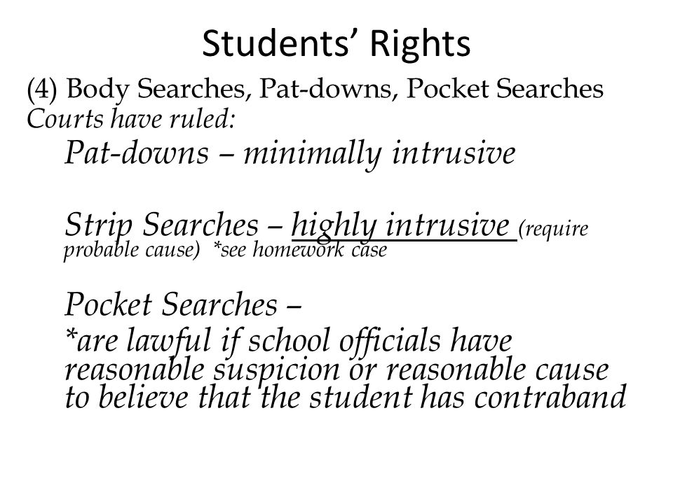 Reasonable Suspicion School Searches 4th Amendment I...