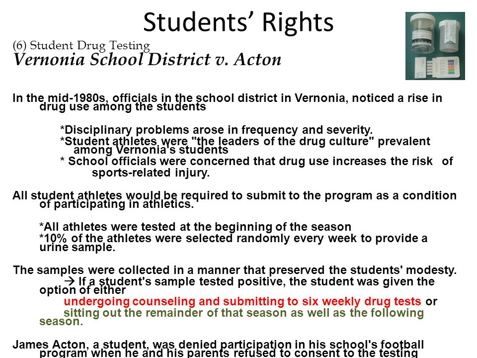Students' Rights Vernonia School District v. Acton
