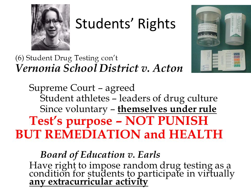 Students' Rights BUT REMEDIATION and HEALTH