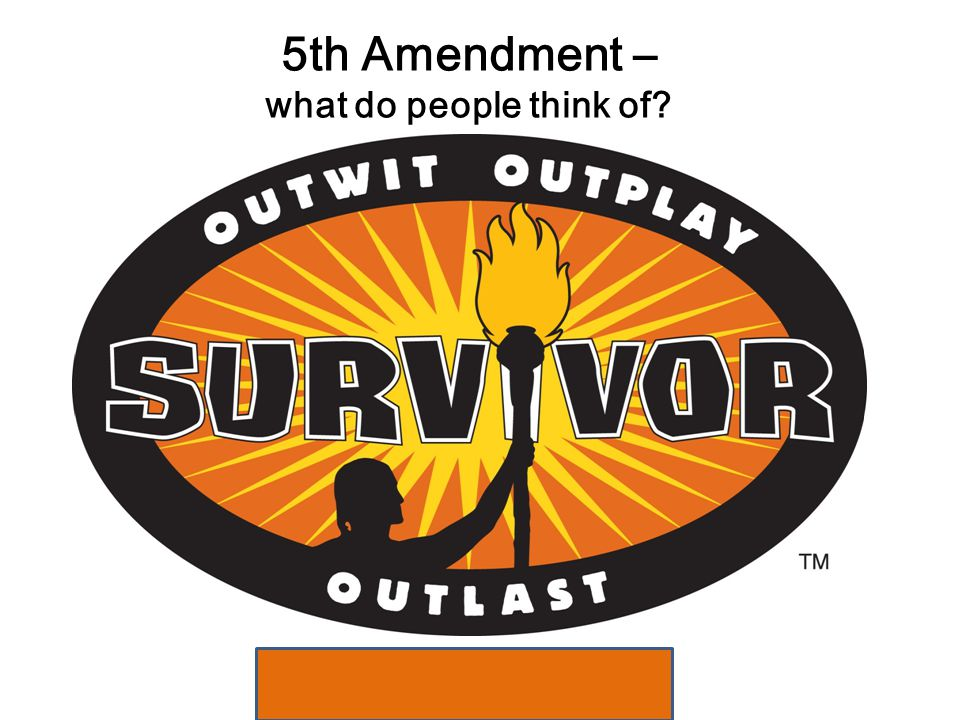 5th Amendment – what do people think of Reward Challenge