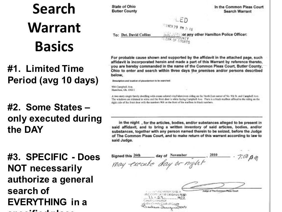 Search Warrant Basics