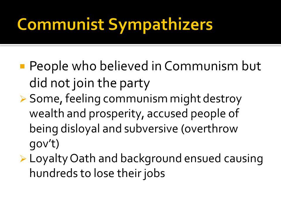 Communist Sympathizers