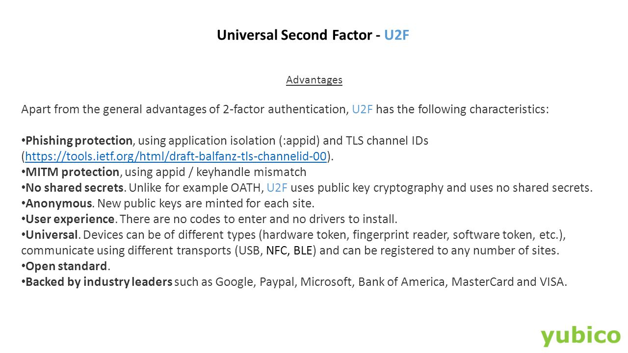 Universal Second Factor - U2F