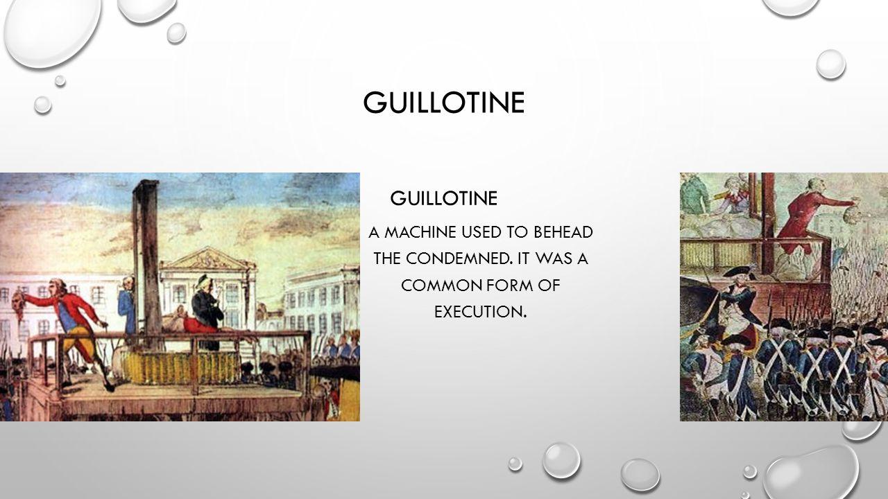 guillotine Guillotine
