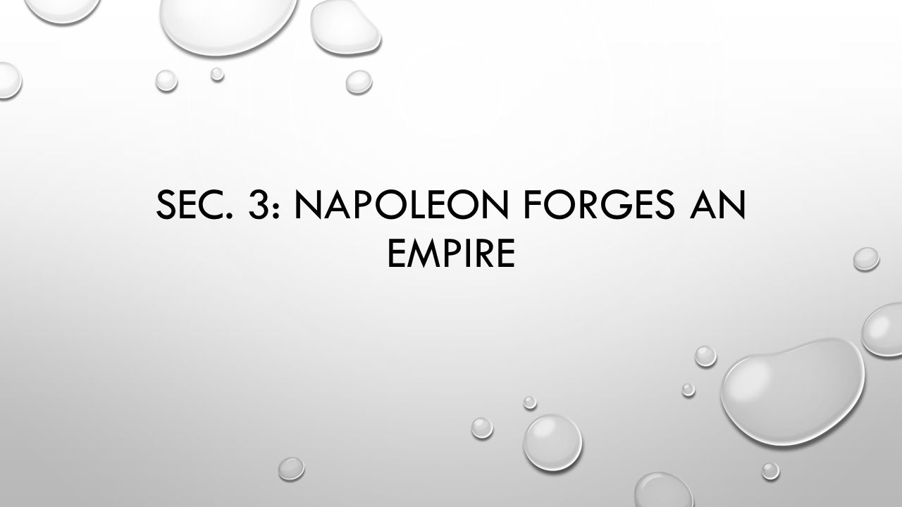 Sec. 3: Napoleon forges an empire