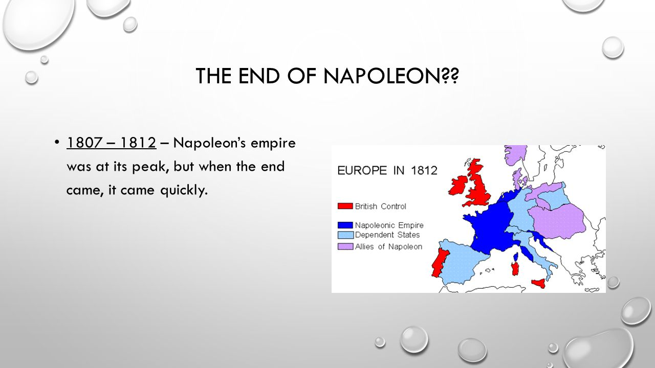The end of napoleon .