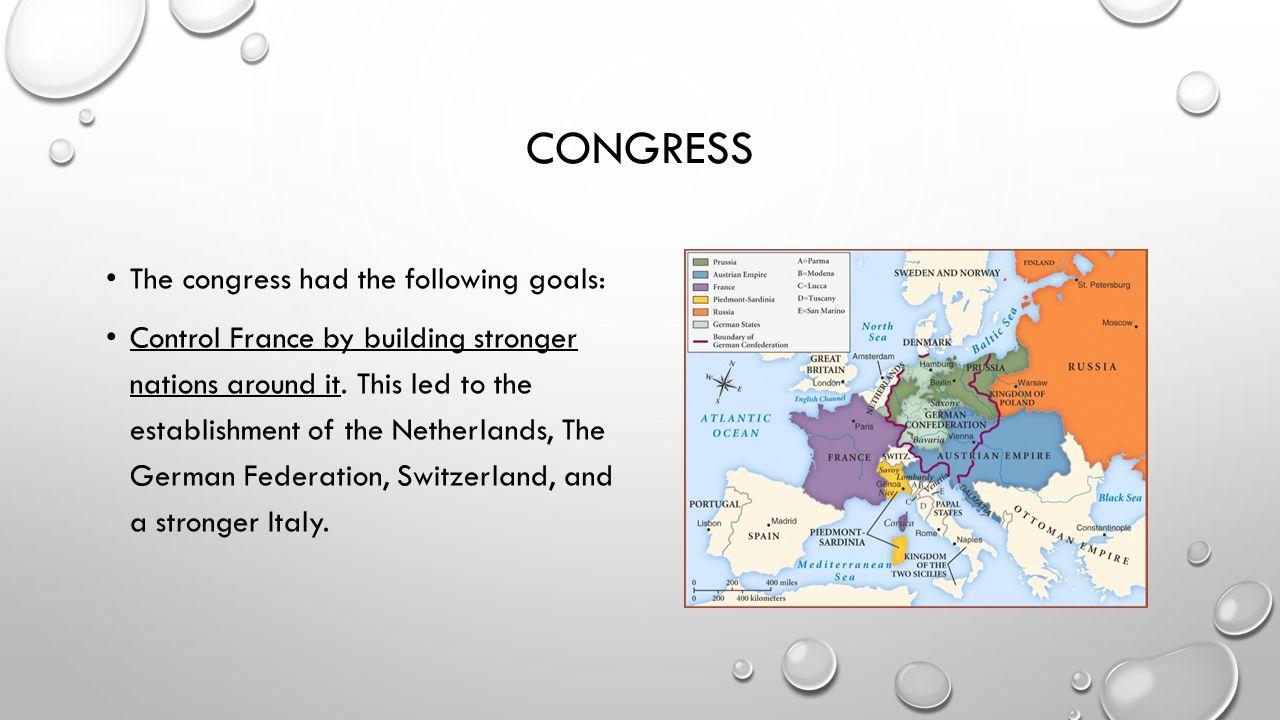 congress The congress had the following goals: