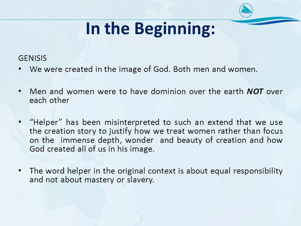 In the Beginning: GENISIS