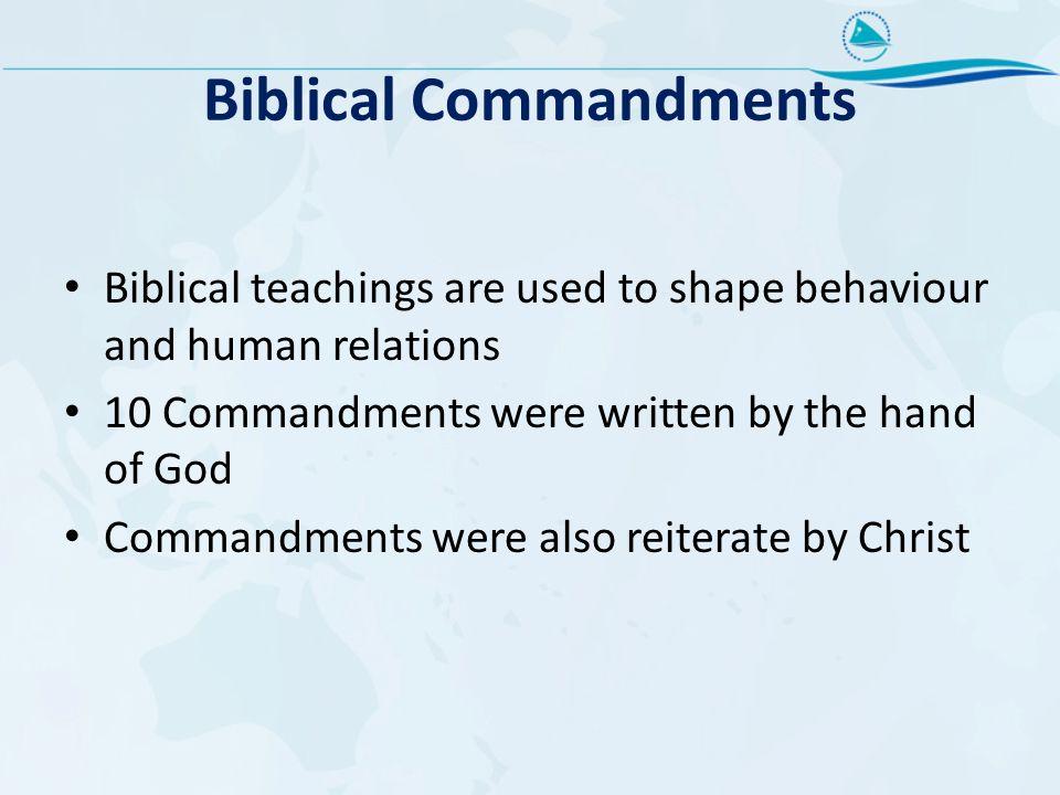 Biblical Commandments