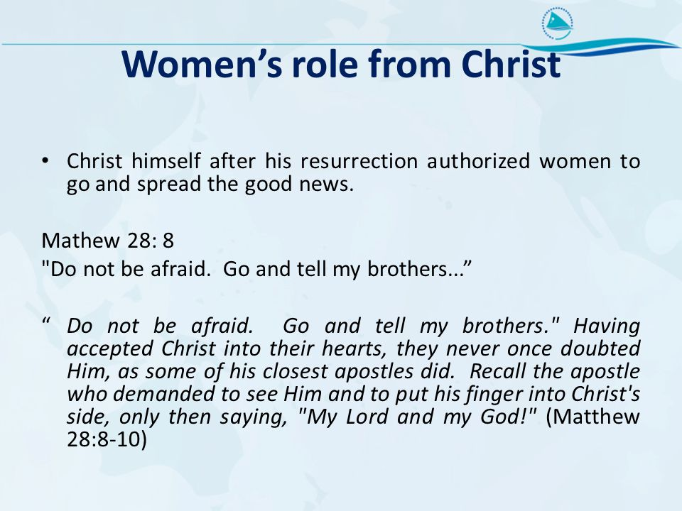 Women's role from Christ