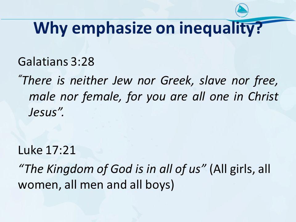 Why emphasize on inequality