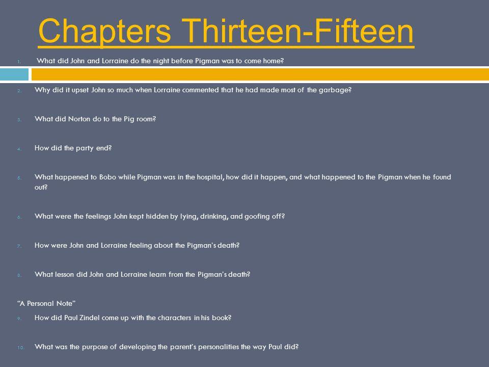 Chapters Thirteen-Fifteen