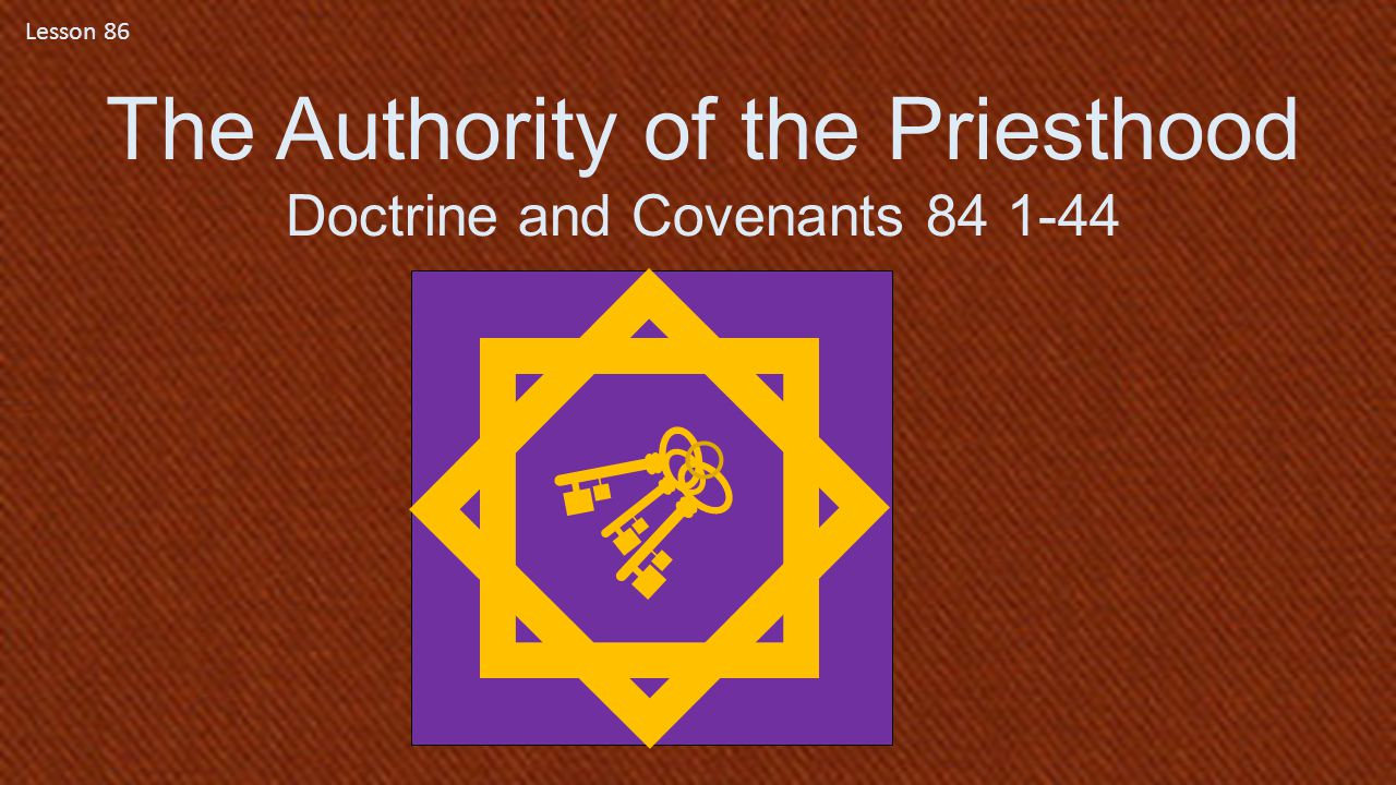The Authority of the Priesthood
