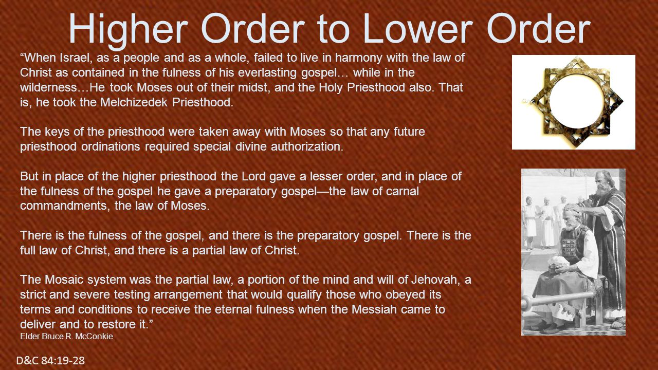 Higher Order to Lower Order