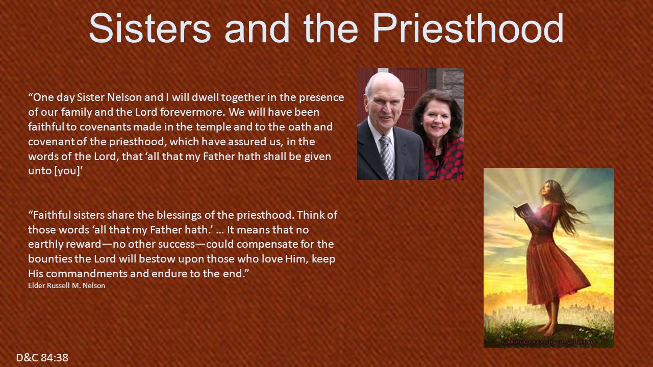 Sisters and the Priesthood