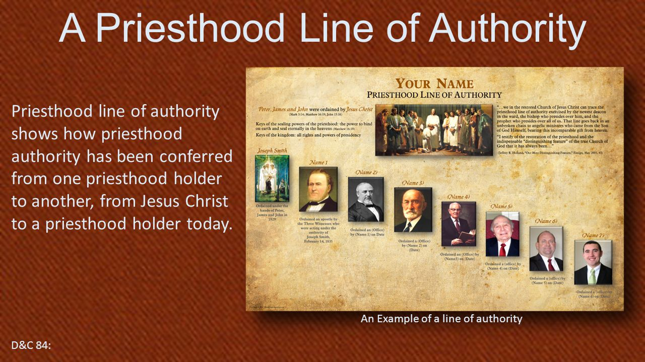 A Priesthood Line of Authority