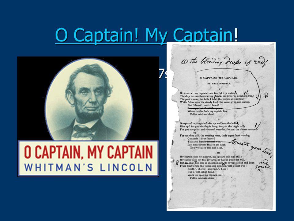 O Captain! My Captain! om/watch v=h9QL2o6O7s8
