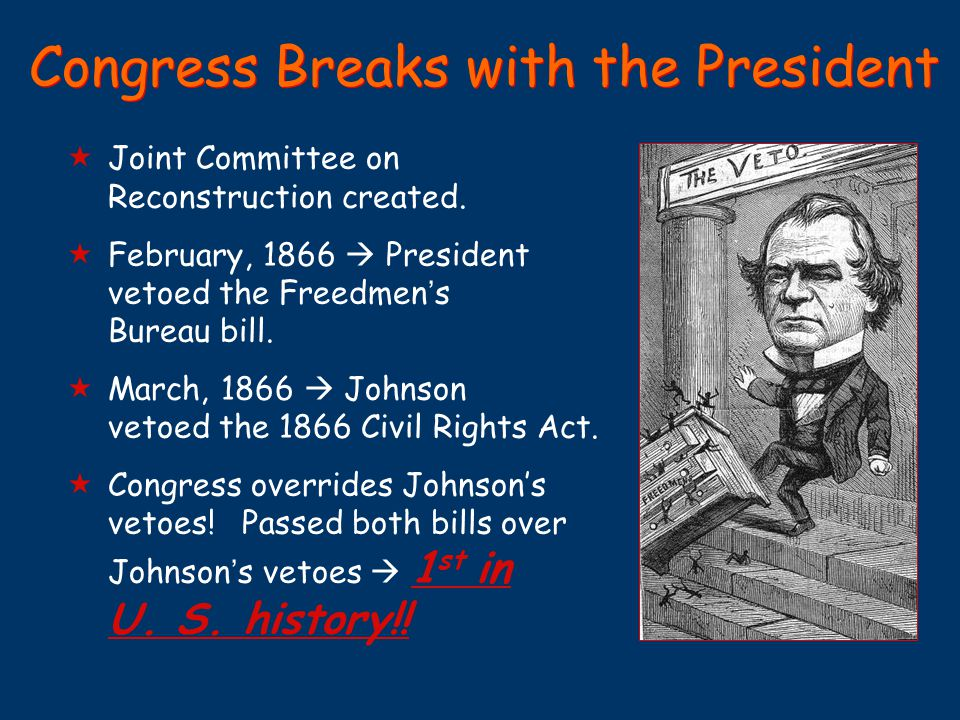 Congress Breaks with the President