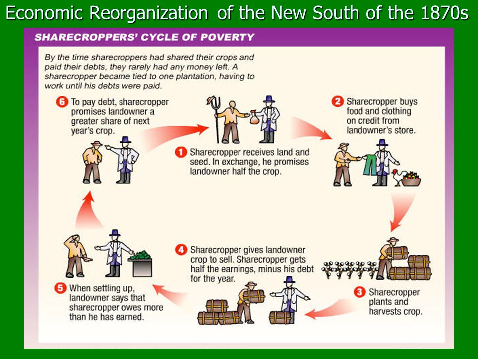 Economic Reorganization of the New South of the 1870s