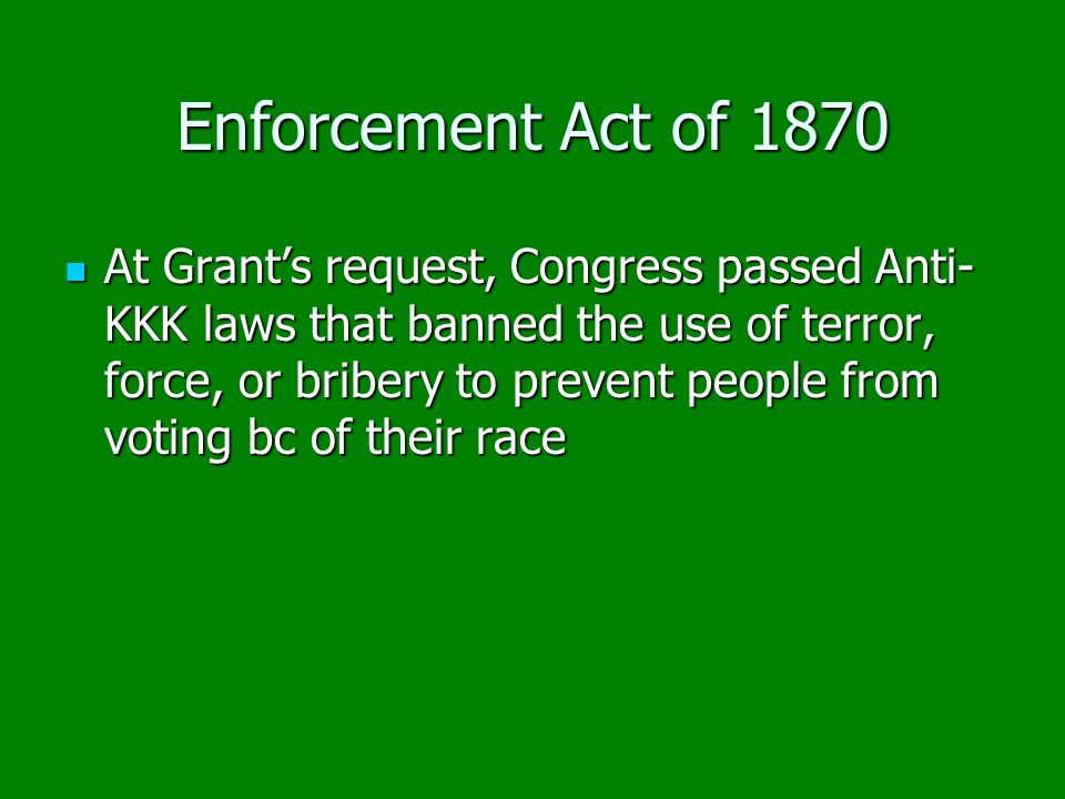 Enforcement Act of 1870