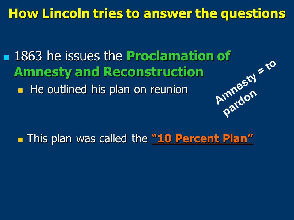 How Lincoln tries to answer the questions