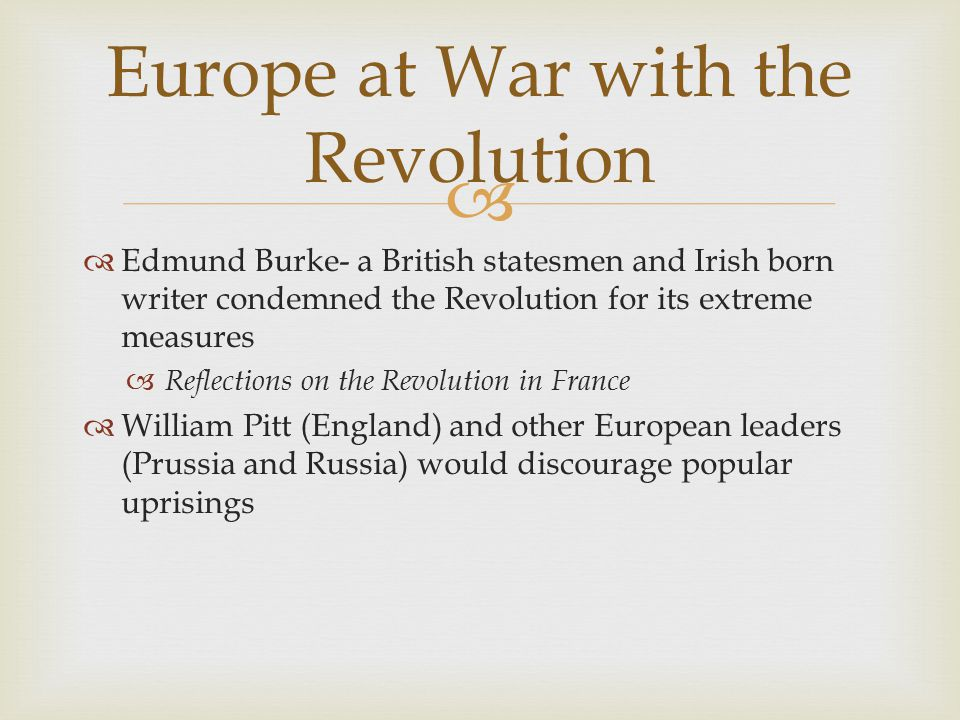 Europe at War with the Revolution