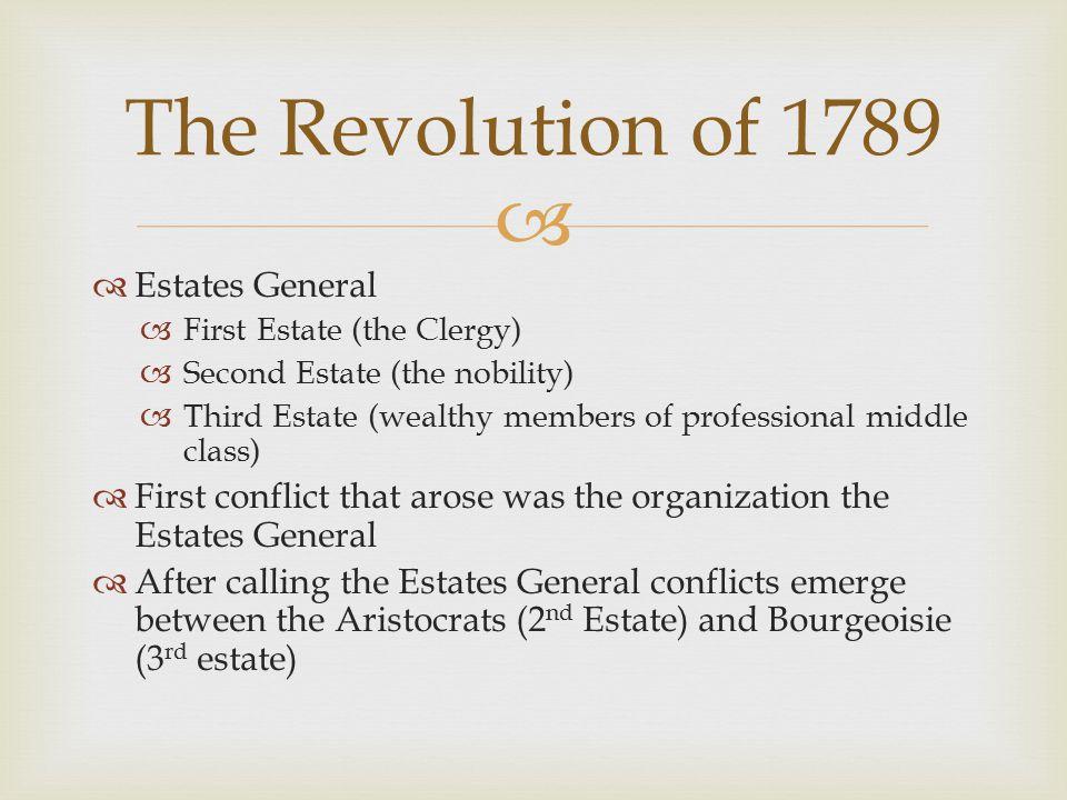 The Revolution of 1789 Estates General