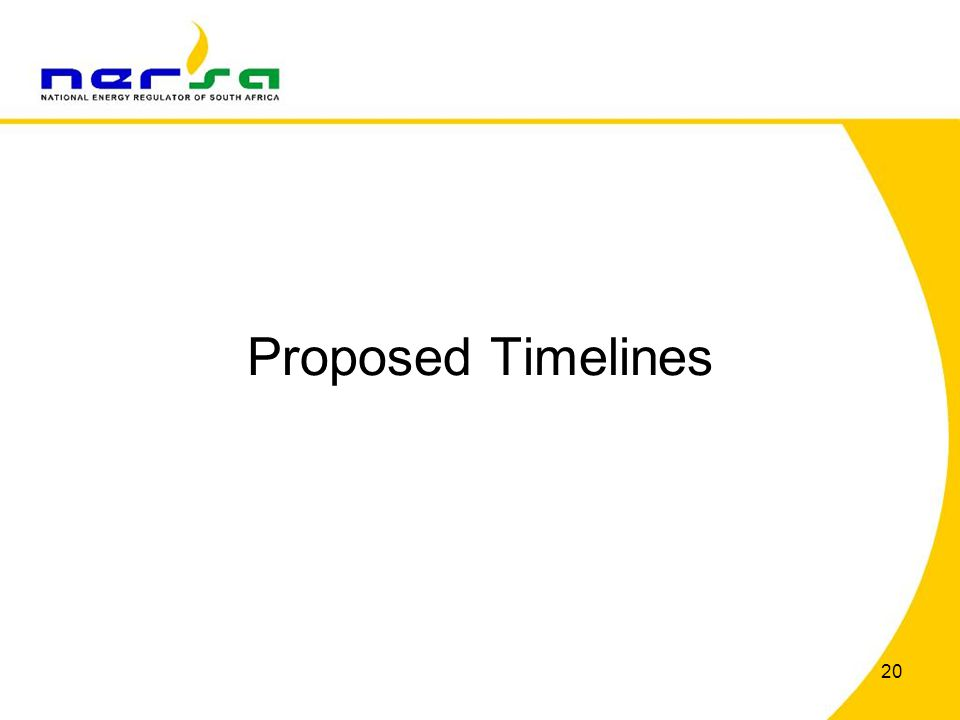 Proposed Timelines