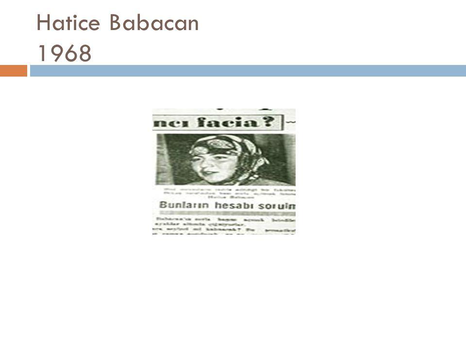 Hatice Babacan 1968