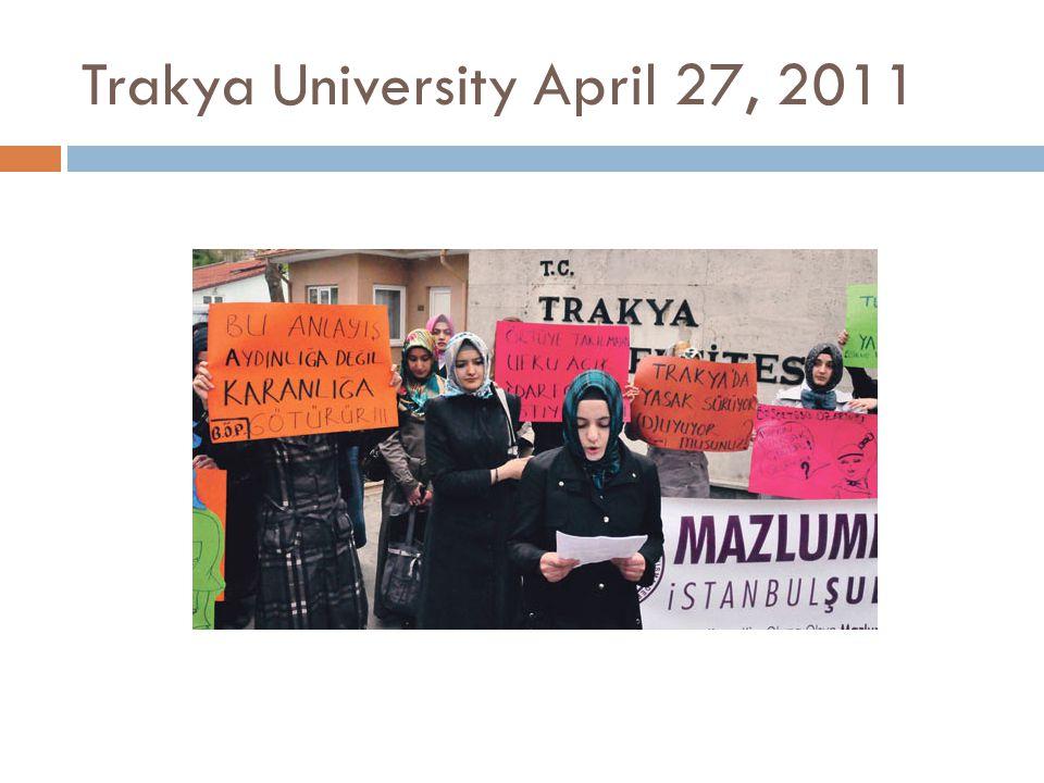 Trakya University April 27, 2011