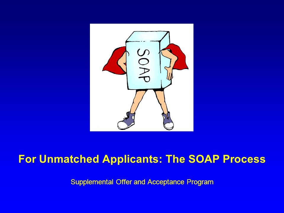 For Unmatched Applicants: The SOAP Process