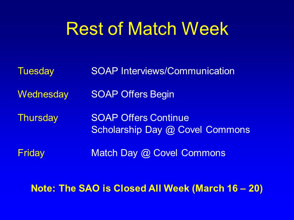 Note: The SAO is Closed All Week (March 16 – 20)