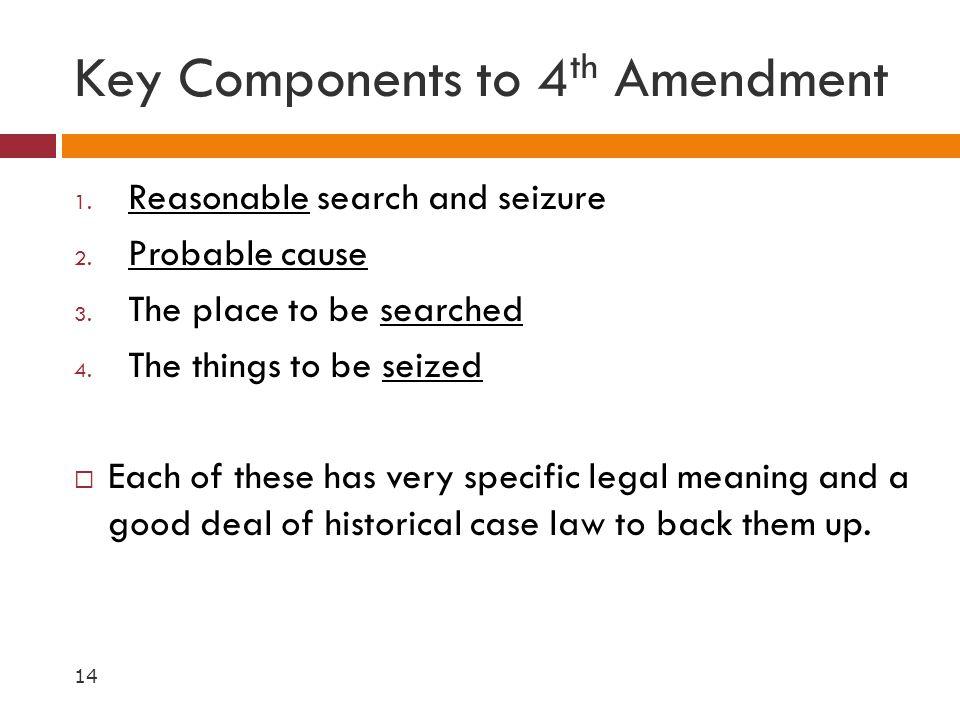 Key Components to 4th Amendment