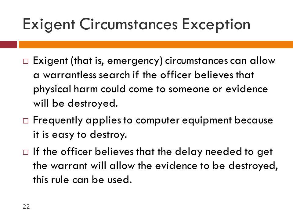 Exigent Circumstances Exception