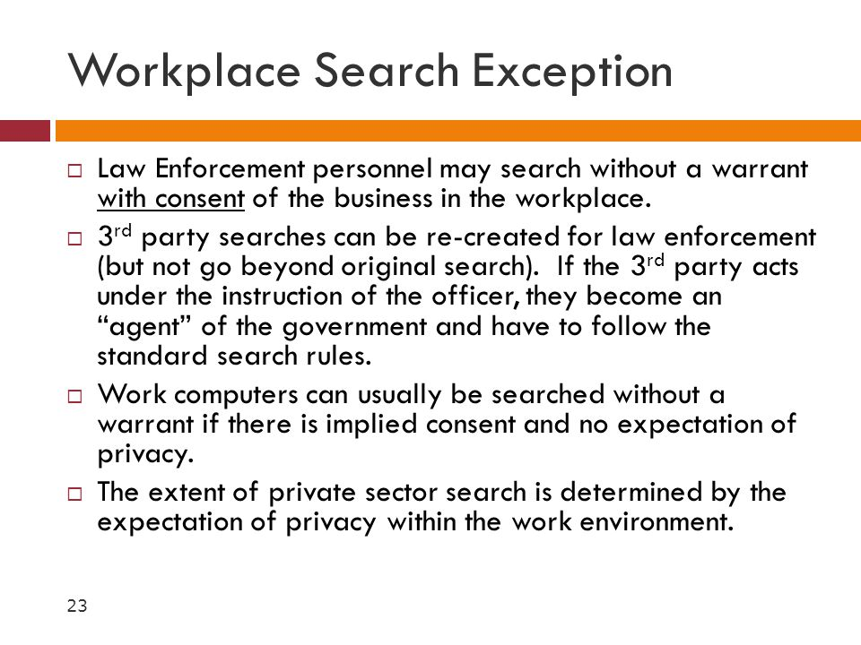 Workplace Search Exception