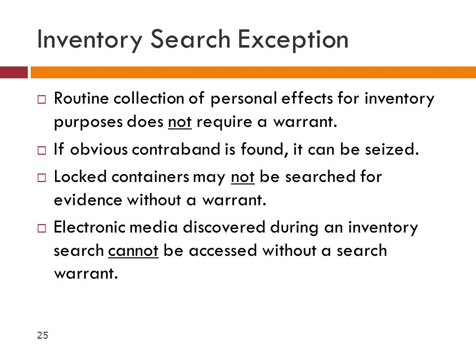 Inventory Search Exception