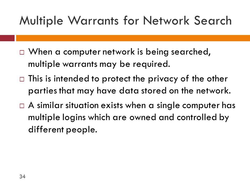 Multiple Warrants for Network Search